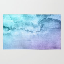 Watercolor Mystery - Blue and Purple Rug