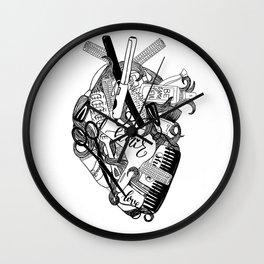 Heart of a stylist Wall Clock