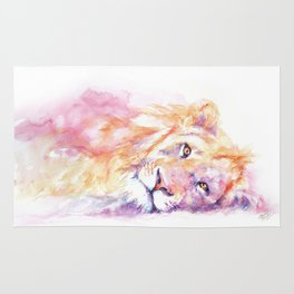 Lazy Days - African Lion Rug