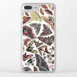 Moths of North America Clear iPhone Case