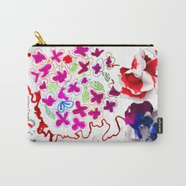 Spring Blooming Flowers Carry-All Pouch