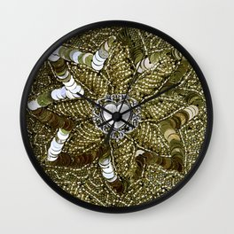 Sequined Heart Wall Clock