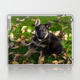 Little German Shepherd puppy Laptop & iPad Skin