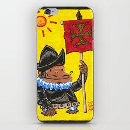 Conquistador Ape on Yellow iPhone Skin