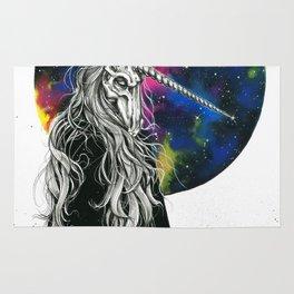 Unicorn girl Galaxy version Rug