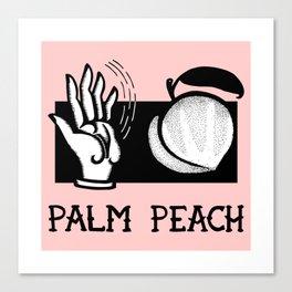 Palm Peach Canvas Print