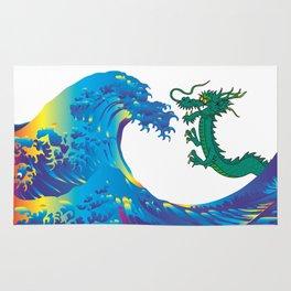 Hokusai Rainbow & Dragon Rug