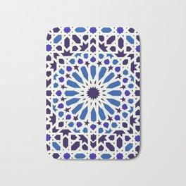 V19 Epic Light Blue Traditional Moroccan Pattern Design . Bath Mat