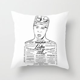 Dan Aykroyd Tattooe'd Ghostbuster Ray Stantz Throw Pillow