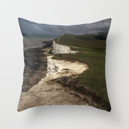 White cliffs of Beachy Head Throw Pillow