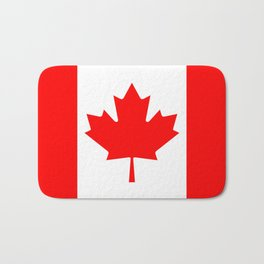 Canadian National flag, Authentic color and 3:5 scale version Bath Mat