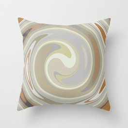 Distorted stripes in colour 3 Throw Pillow