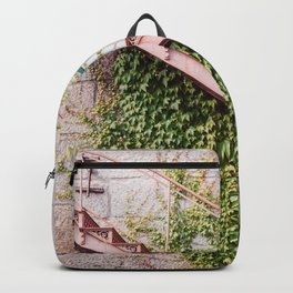 Stone House with Ivy Wall Backpack