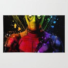 DeadPool2 Comic Book Movie Graffiti Style Abstract Painting - Ryan Reynolds Rug