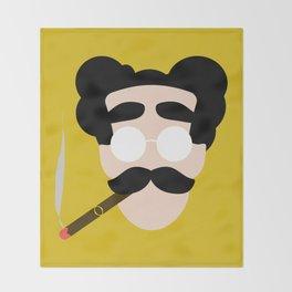 4menSmoking- Groucho Throw Blanket