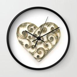 Vintage Sheet Music Heart Wall Clock