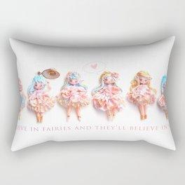 Believe in fairies.. Rectangular Pillow
