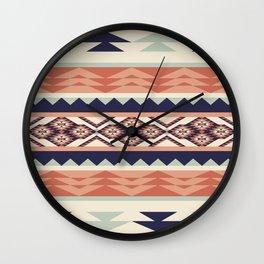 Native American Geometric Pattern Wall Clock