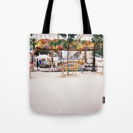 Photograph of Paris summer fair outside of St Honore Hotel society6 zolliophone shop Tote Bag