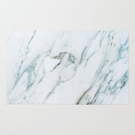 Classic White Marble Rug