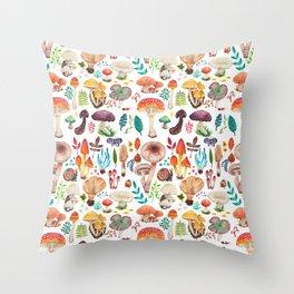 Mushroom heart Throw Pillow