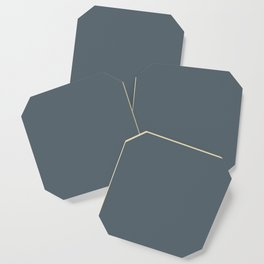 Plain Peninsula Blue to Coordinate with Simply Design Color Palette Coaster