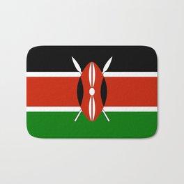 Kenyan national flag - Authentic version Bath Mat
