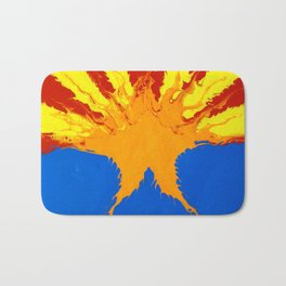 Arizona Flag (Poured Acrylic Style) Bath Mat