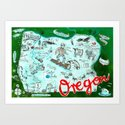 Map of Oregon by chengel