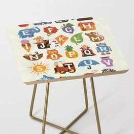 Alphabet Side Table