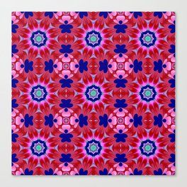 Floral fantasy pattern design Canvas Print