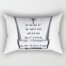 Blurred Vision Keep Calm And Drink Tequila Shots Rectangular Pillow