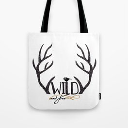 Wild and Free Deer Antler Tote Bag Tote Bag