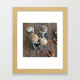 Nut Cake Pops Framed Art Print