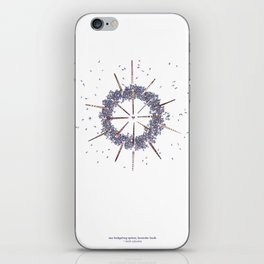 nature mandala... sea hedgehog spines, lavender buds iPhone Skin