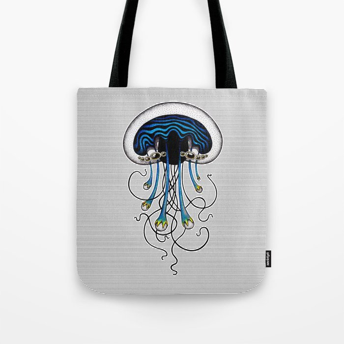 Blue Jellyfish Tote Bag