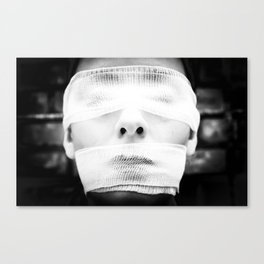 This soft nightmare is blinding and suffocating. Canvas Print