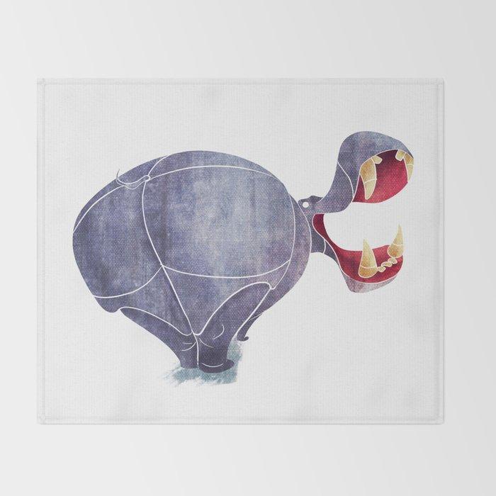 Hippopotamus Throw Blanket