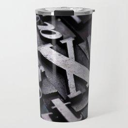 Random Letterpress Letters Travel Mug