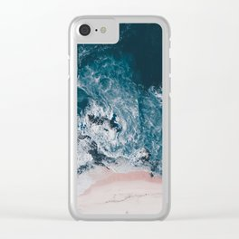 I love the sea - written on the beach Clear iPhone Case