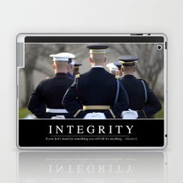 Integrity: Inspirational Quote and Motivational Poster Laptop & iPad Skin