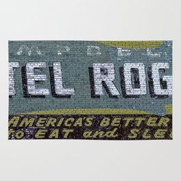 Idaho Falls - Vintage Hotel Rogers Better Place To Eat And Sleep Rug
