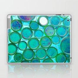 Turqoise Circles by Lika Ramati Laptop & iPad Skin