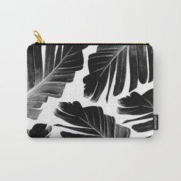 Tropical Black Banana Leaves Dream #1 #decor #art #society6 Carry-All Pouch
