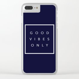 Good vibes only new shirt art vibe love cute hot 2018 style fashion sticker iphone cover case skin m Clear iPhone Case
