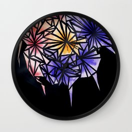Rose Fracture Wall Clock