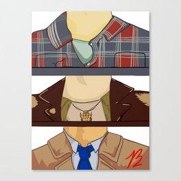 Sam, Dean, and Castiel (Supernatural)(Unofficial) Canvas Print