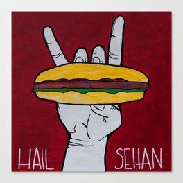 Hail Seitan Canvas Print