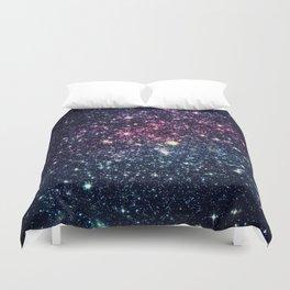 Galaxy Stars : Subtle Purple Mauve Pink Teal Duvet Cover