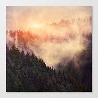 skeleton Canvas Prints featuring In My Other World by Tordis Kayma